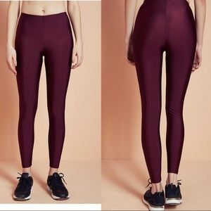 Anaïs&Margaux Burgundy Shiny Leggings